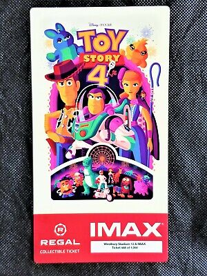 Toy Story 4 IMAX Regal Collectible Ticket ! #448 Out Of 1,000 !