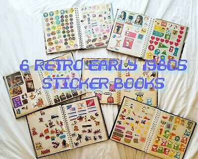 6 Early 1980s Retro STICKER ALBUMS with 1000s of stickers. Rare / Collector