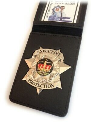 Executive Protection Badge with ID Wallet