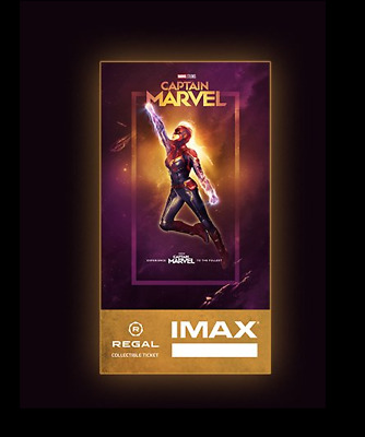 Captain Marvel IMAX Regal Collectible Ticket ! 735 Of 1,000 ! Week 1 !