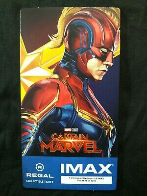 Captain Marvel IMAX Regal Collectible Ticket ! 98 Of 1,000 ! Week 2 !