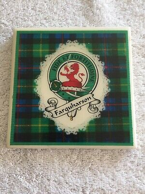Farquharson Scottish Clan Crest Ceramic Tile - Fide Et Fortitudine