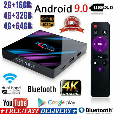 H96 Max RK3318/RK3328/S905X2 TV Box 4+64G Android9.0 WiFi Quad Core Media Player