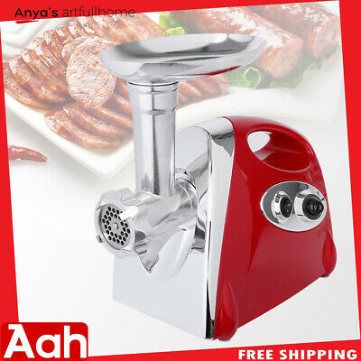 2800W Electric Meat Grinder Sausage Stuffer Maker Stainless Cutter Home Red