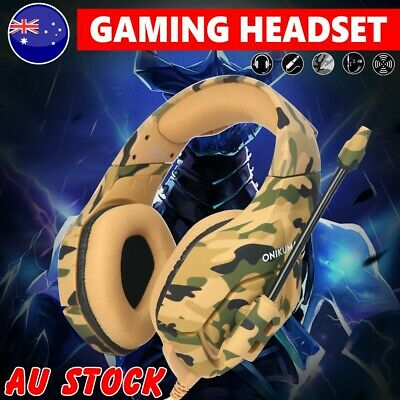 ONIKUMA K1 Stereo 3.5mm Mic Gaming Headset Headphone for PC Laptop Xbox One PS4
