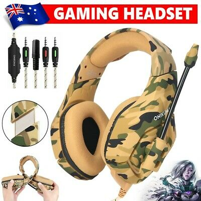 ONIKUMA K1 Stereo Bass Surround Gaming Headset for Laptop PS4 Xbox One Yellow