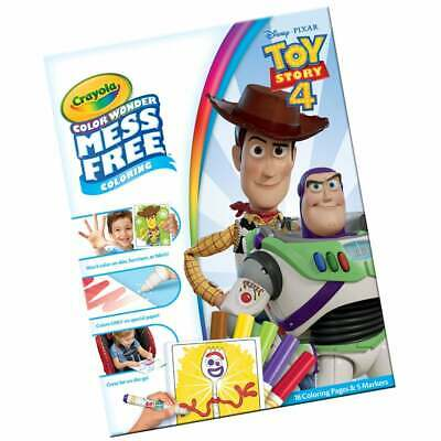 Crayola Toy Story 4 Color Wonder Mess Free Magic Colouring Set inc Pens