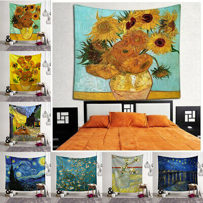 Tapestry Hippie Van Gogh Famous Art Painting Bedroom Tapestry Wall Hanging Decor