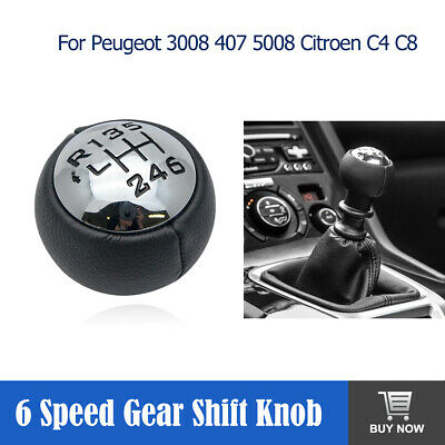 6 Speed Gear Stick Shift Knob or Peugeot 3008 407 5008 807 307 308 Citroen C4 UK