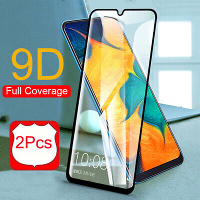 2X For Samsung Galaxy A20 A30 A50 A70 Full Cover Tempered Glass Screen Protector