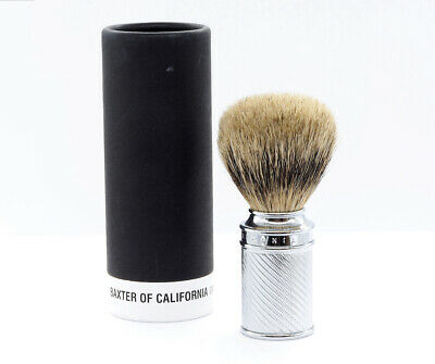 Baxter Of California Silvertip Shaving Brush In Chrome - Brand New And Unused!