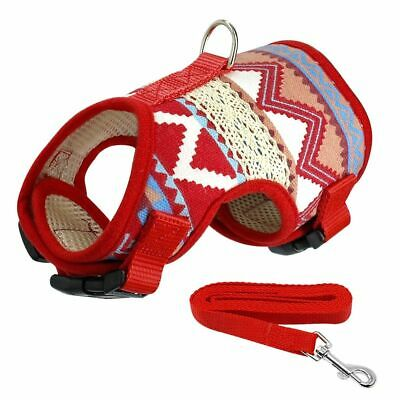 Dog Harness Vest Soft Printed Leash Basic Halters Jacket For Small Medium Puppy