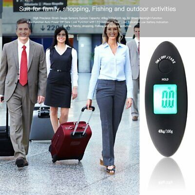40kg/100g Portable Digital Hanging Luggage Electronic Scale + Starp Backlight MT