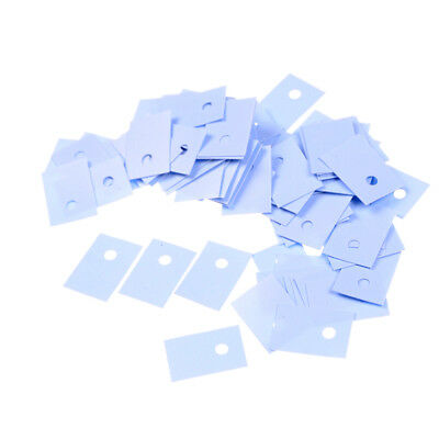 100pcs TO-220 Silicon Rubber Pads Insulation Silicon Heatsink Silicons Sheet  zg