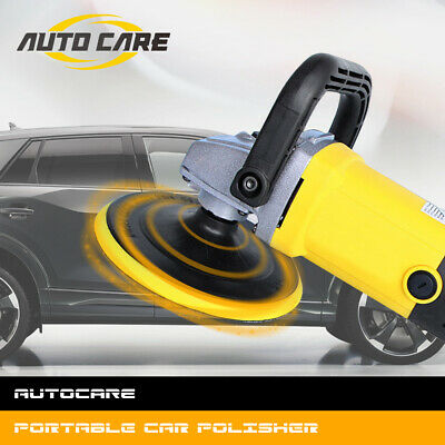 """Autocare 7"""" 1200W Variable 6 Speed Electric Car Polisher Buffer Waxer Sander"""