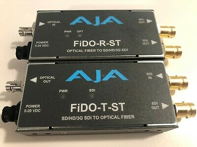 AJA FIDO-R-ST SINGLE Channel ST Fiber to SDI Mini Converter