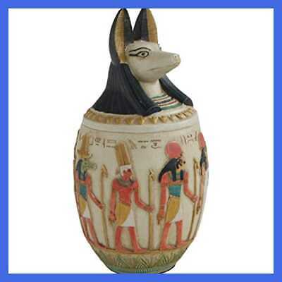 "Egyptian Canopic Jar Of Dua Multicolor 10"" Home"
