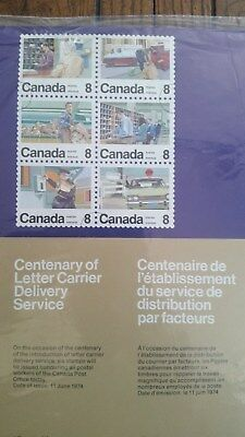 Canadian stamps full sheet of 50 MNH, Letter Carriers, #634-639, multicoloured