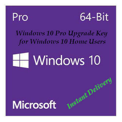 Microsoft Windows Pro 10 32 64 upgrade key from windows home version-Licence Key