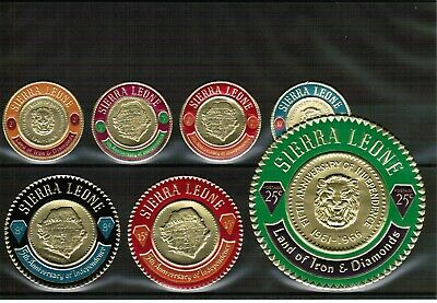 Sierra Leone mixed selection of mint circular stamps