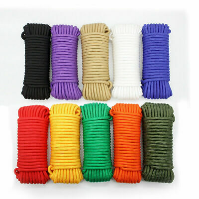 30M 4/6/8mm Double Braid Accessory Cord Rope for Climbing Outdoors Work Arborist