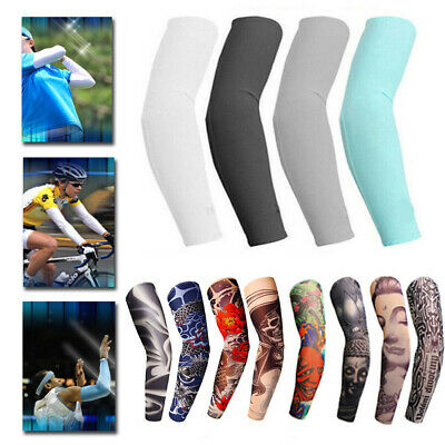 10PCS Tattoo Cooling Arm Sleeves Cover UV Sun Protection Basketball Outdoor