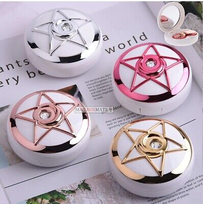 Contact Lens Case Star Diamond Design Travel Box Container Mirror + Accessories