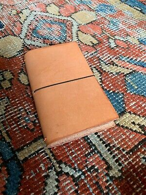 Pocket Travelers Notebook - Leather Journal Cover for Field Notes, Moleskine