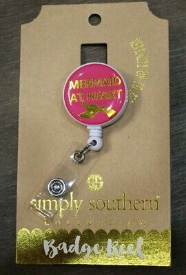 NEW Simply Southern Mermaid Retractable Badge Reel ID Holder - Free Ship