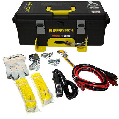 Superwinch Set Winch2Go Seilwinde 1814KG 12V Box + Kabel-Fernbedienung