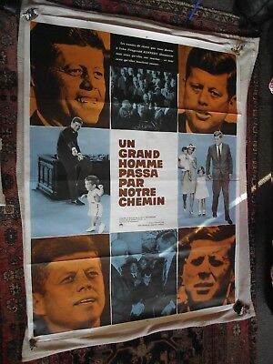 1960s Orig.French Film Poster - John F Kennedy -Years of Lightning, Day of Drums