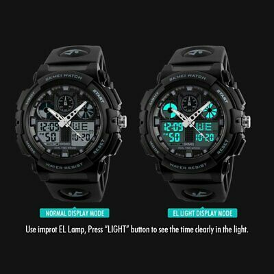 Boy's Men's Quartz Watch Army Speedometer Style LED Digital Wrist Watch 2019