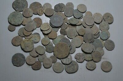 Lot 100 Ancient Roman Bronze Coins (Uncleaned)--1