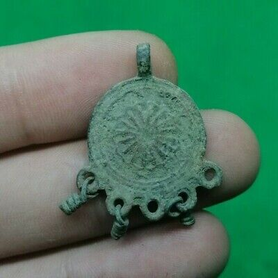 Ancient Celtic Bronze Solar Amulet / Decoration - 200/100 Bc