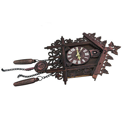 House Clock Wall Gift Accessories Handcraft Wood Cuckoo Swing Home Quality