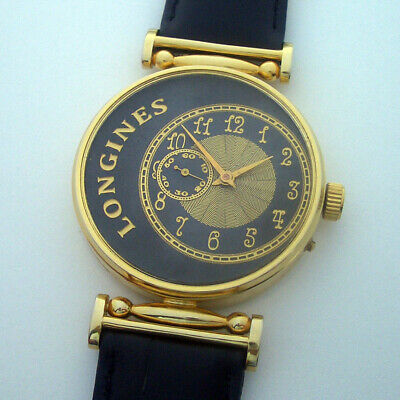 Rare Swiss ANTIQUE Wristwatch LONGINES Gilt Case
