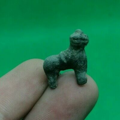 Ancient Celtic / Illyrian Small Votive Bronze Animal Figurine - 300 Bc
