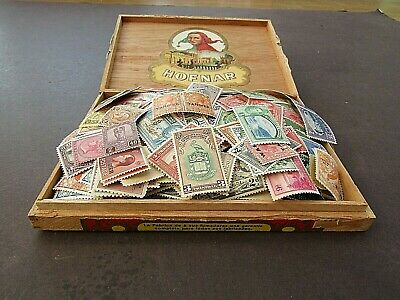 BRITISH EMPIRE - VINTAGE COLLECTION IN OLD CIGAR BOX - MANY 100s - CHIEFLY KINGS