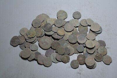 Lot 100 Ancient Roman Bronze Coins (Uncleaned)--2