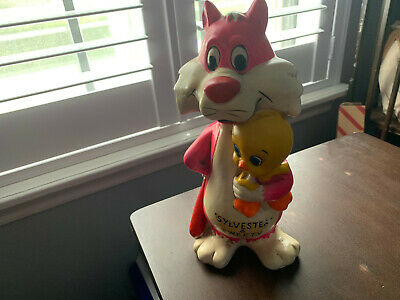 Vintage Sylvester and Tweety Coin Bank 1970