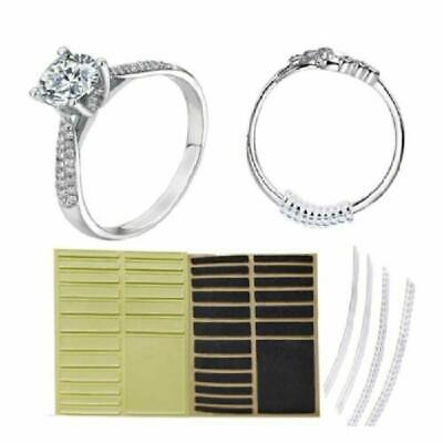 Flexible Invisible Ring Sizers Size Adjuster DIY Zone Silver Polishing Set Cloth