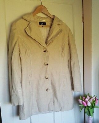 Per Una M&S Cream Linen Coat Mac Trench Jacket Size UK 14 Spring