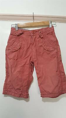 Fat Face Salmon Red Cargo Shorts Size 10-11 Years