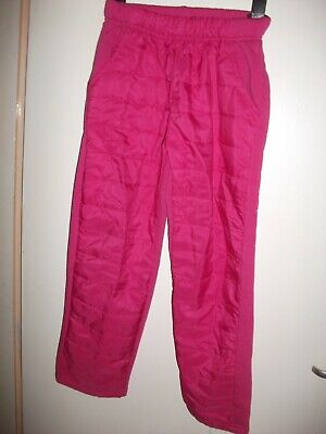 Girls Cerise Pink Fleece Lined Casual Trousers - Age 8 y/o