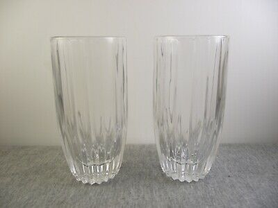 "2 Mikasa Crystal Park Lane 5 3/8"" Highball Tumblers"