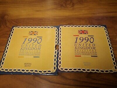 1990 United Kingdom Uncirculated 8 coin collection set