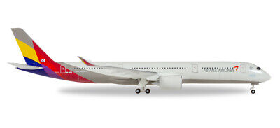 Herpa 529983 Asiana Airlines Airbus A350-900 Xwb - HL8078, 1:500