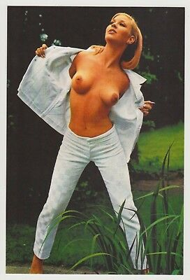 Postcard Pinup Risque Nude Stunning Girl Extremely Rare Photo Post Card 9533