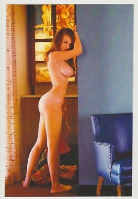 Postcard Pinup Risque Nude Stunning Girl Extremely Rare Photo Post Card 9558