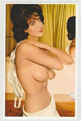 Postcard Pinup Risque Nude Stunning Girl Extremely Rare Photo Post Card 6720
